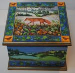 Hand Painted Wooden Box 'Fox Trails'