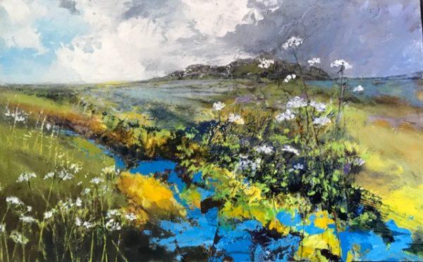 Acrylic Original painting 'Sky Blue Brook Revisited'