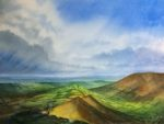Watercolour 'Cat's Back' Black Mountains