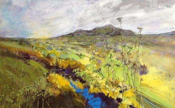 Acrylic Original painting 'Sky Blue Brook'