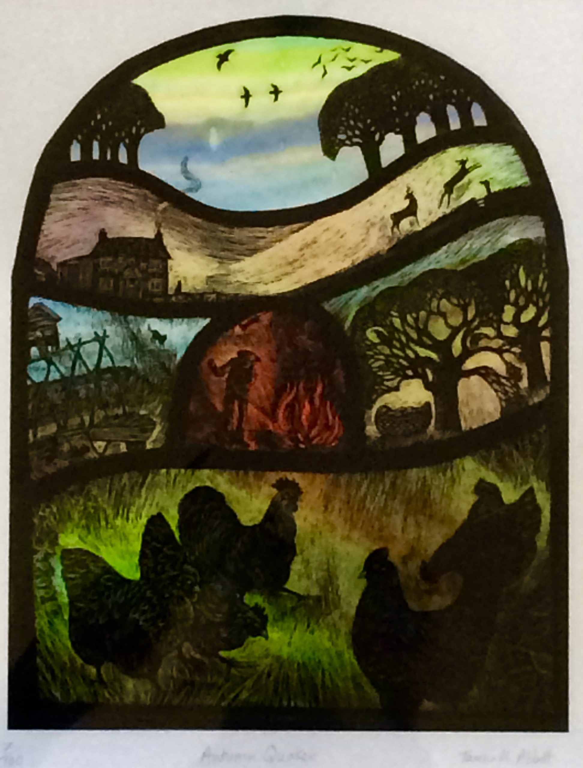 Print of Stained Glass Panel