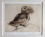 Limited Edition Etching Puffin and Sand Eels