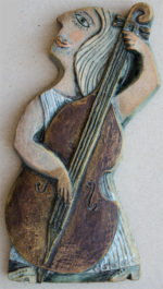 Ceramic Relief Double Bass