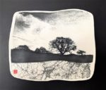 Ceramic Wall Mounted Printed Porcelain 'Mapped Twilight'