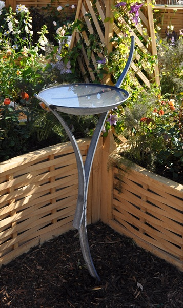 Hot Forged and Galvanised Oasis Bird Bath