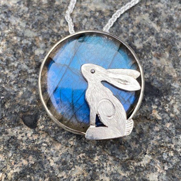 Silver Pendant 'Clear Blue Sky'