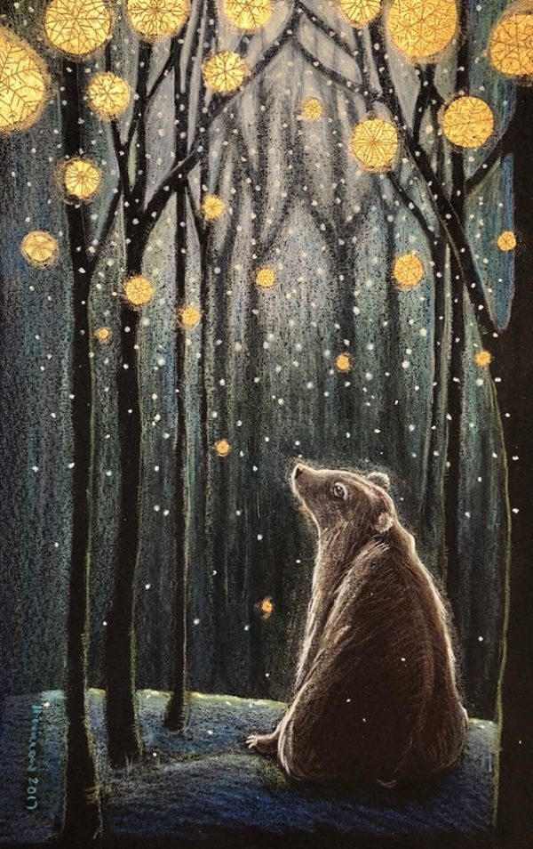 Hand Gilded Limited Edition Print 'Foretelling The Snow'