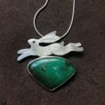 'Leaping Hare' on Chrysocolla