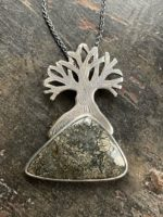 Silver Pendant 'Tree with Marcasite'