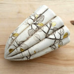 Ceramic Leaf Pod with 24ct Gold Leaf Decoration