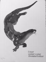 Original 'Utter Underwater Thunderbolter' by Jackie Morris