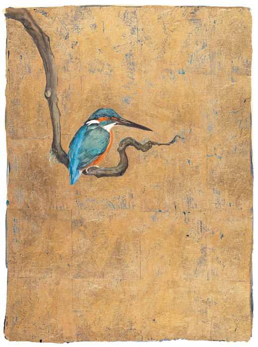 The Lost Words Limited Edition Print Gold Kingfisher
