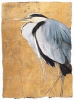 The Lost Words Limited Edition Print Gold Heron