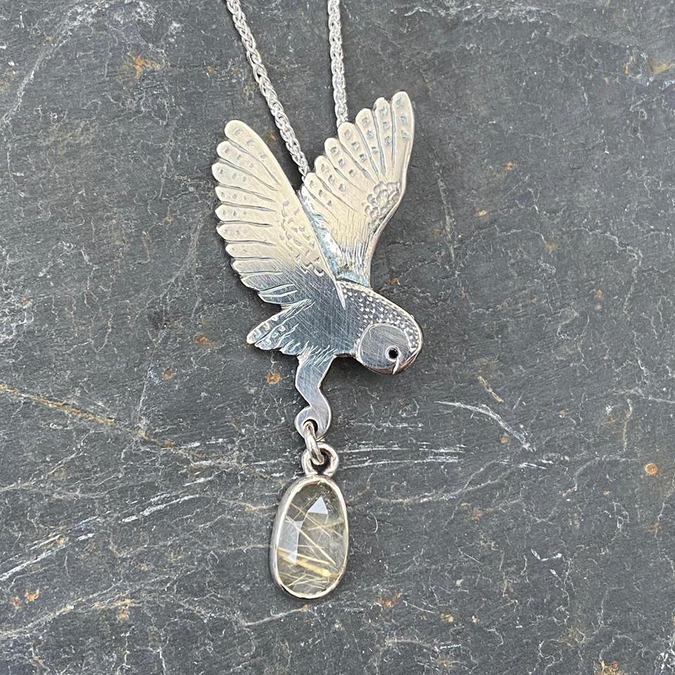 Silver Pendant 'Golden Prize'