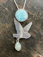 Silver Pendant 'Little Owl'