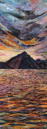 Textile Embroidery 'Italian Sunset'