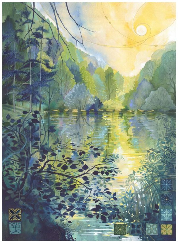 Hand Embellished Limited Edition Print Late Summer