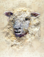 Textile Collage Cotswold Sheep #21