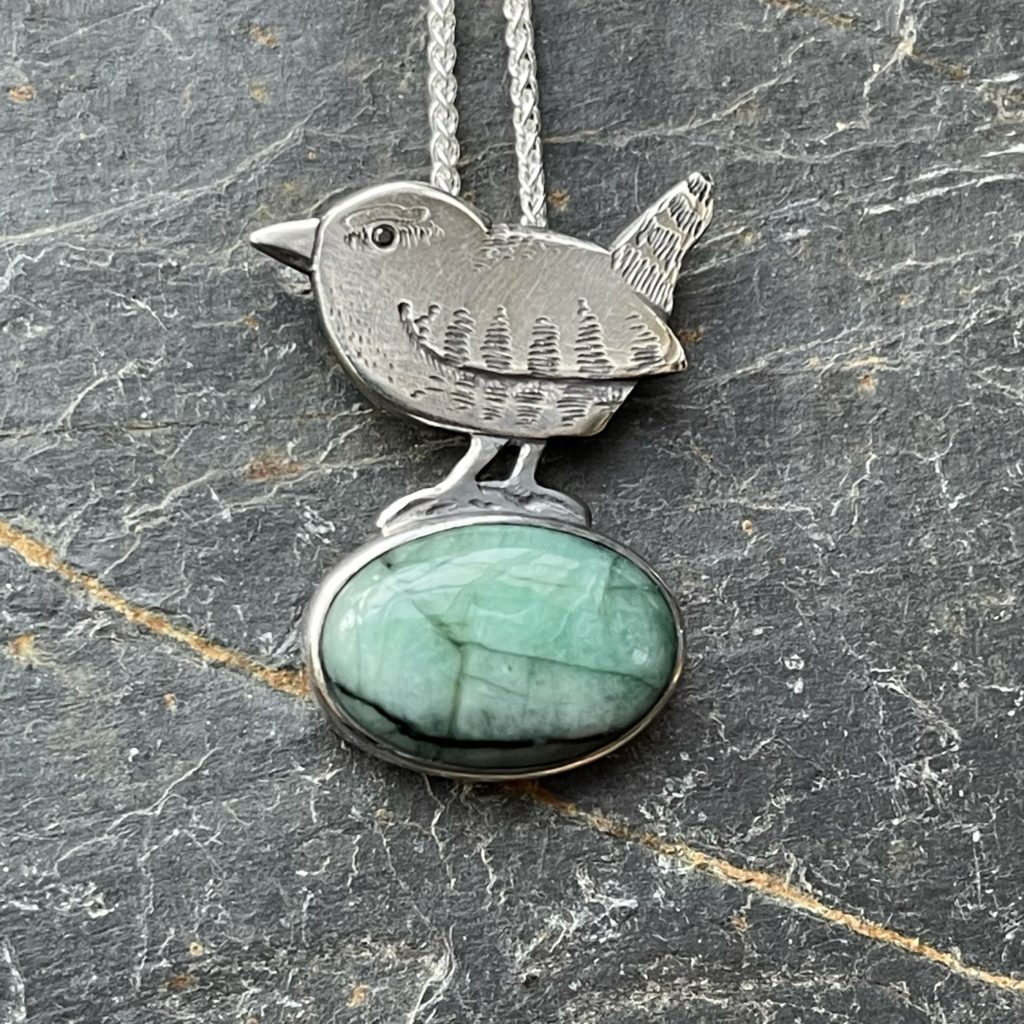 Wrens Rest with Emerald Pendant