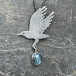 As the Crow Flies Silver Pendant
