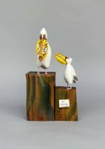 Hand Carved Wood  'Hungry Pelican'