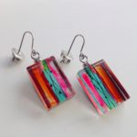 Acrylic Oblong Block Drop Earrings