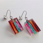 Acrylic Oblong Block Drop Earrings