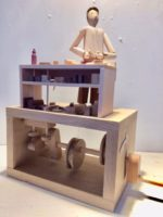 Wooden Automata 'Carpenter at his work bench'