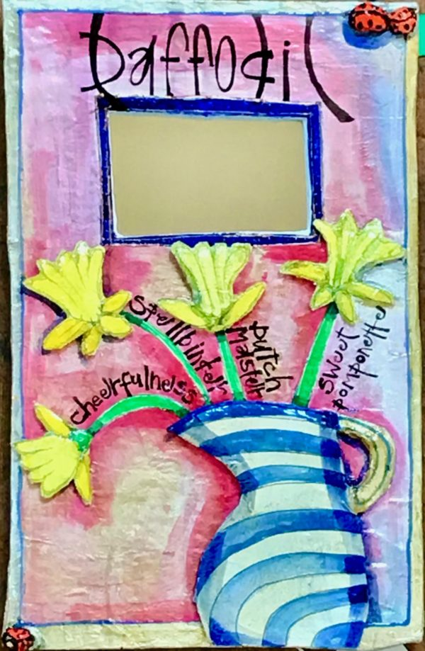 Papier-Mache Daffodil Mirror