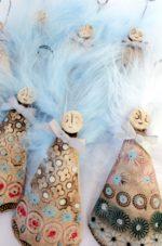 Ceramic Christmas Angel Hang Ups