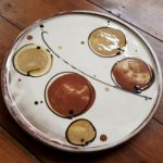 Earthenware Dinner Plate Circles Design