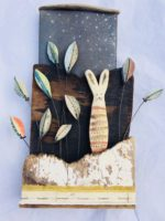 Ceramic and Driftwood  Starry Night