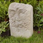 Hand Carved Forest Of Dean Stone Unique 'Green Man'