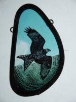 """'""""Stained Glass Panel Red Kite"""""""