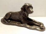 Cold Cast Bronze Resin Resting Dog