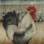 Original pen and ink drawing   High Summer Cockerel