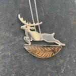 'Autumnal Leap' Silver Pendant