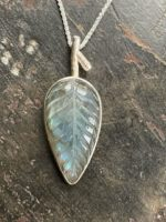 Silver Pendant 'Labradorite Leaf'