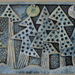 Ceramic Relief 'Fir trees in the snow'