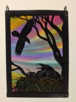 Stained Glass Raven's Nest