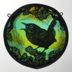 Stained Glass Panel Wren