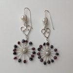 Heart and Starburst Drop Earrings