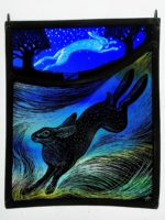'The Land of her Ancestors' Stained Glass Panel