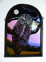 Stained Glass Tawny Owl