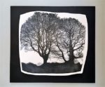 Ceramic Wall Mounted 'Two Trees' Printed Porcelain