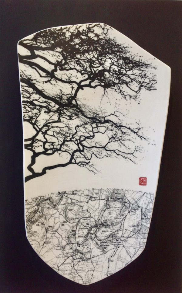 Ceramic Wall Mounted 'Map & Branches'
