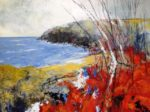 Acrylic and pastel Original painting 'Finistere: Bright Bracken'