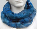 Hand Felted Cowl in Blues