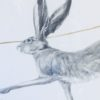 Original Pencil Drawing  'Hares: Two'