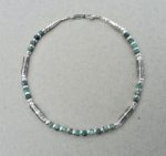 Silver Necklace with African Turquoise